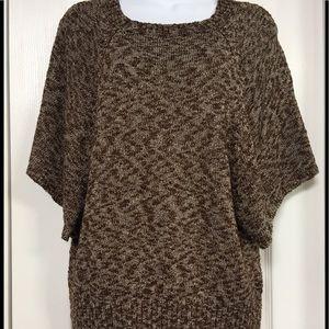 Heathered Brown Knit Tunic Sweater